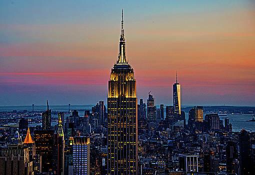 Manhattan Skyline at Dusk by Allan Einhorn