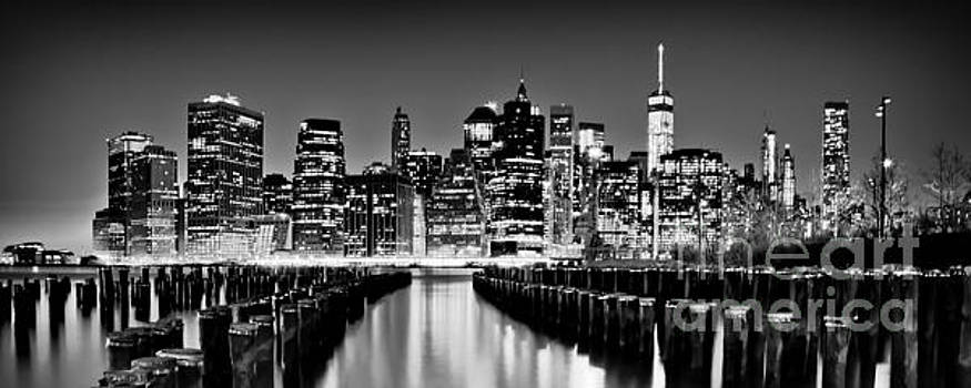 Manhattan Skyline BW by Az Jackson