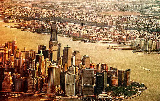 Manhattan Tip Aerial by Allan Einhorn