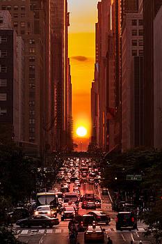 Manhattanhenge in New York City by Mihai Andritoiu