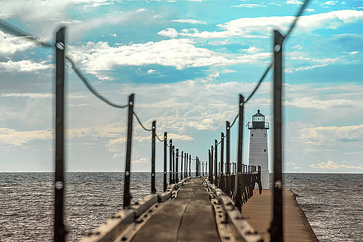 Manistee LIghthouse Catwalk by J Thomas