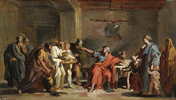 Vincenzo Camuccini - Manius Curius Dentatus refuses the Samnites