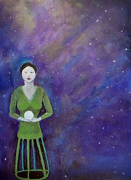 Mannequin Holds the Moon by Lisa Kaye