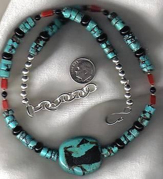 Man's Turquoise Heshi Regalia necklace by White Buffalo