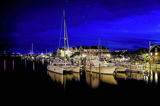 Manteo Waterfront Marina II HDR by Greg Reed