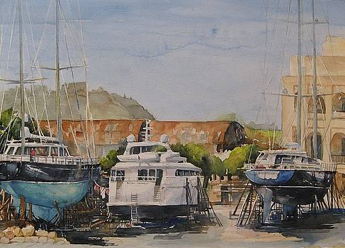 Manuel Island Yachtyard by Diane Agius