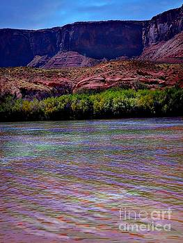 Many colors in Colorado River by Annie Gibbons