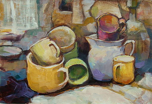 Many cups by Alfons Niex