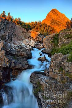 Adam Jewell - Many Glacier Falls Morning Glow