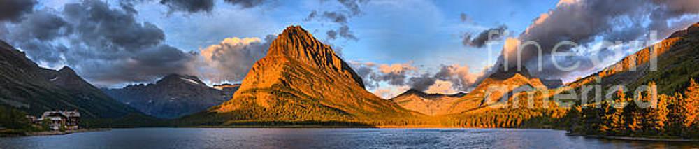Adam Jewell - Many Glacier Lodge Sunrise Surprise