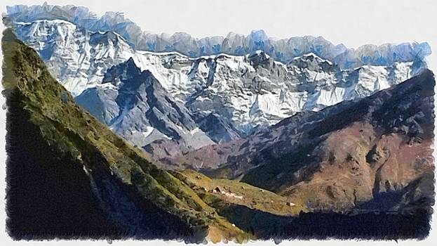 Many peaks in the distance by Ashish Agarwal