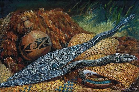 Maori Oars by Peter Jean Caley