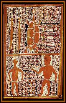 Maori Sepik Tribal Design by Vagabond Folk Art - Virginia Vivier
