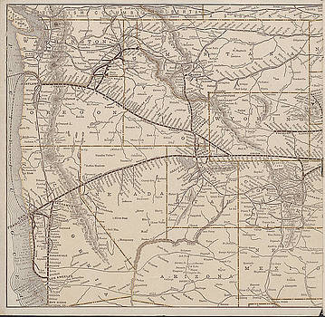 Chicago and North Western Historical Society - 1901 Train Route Map