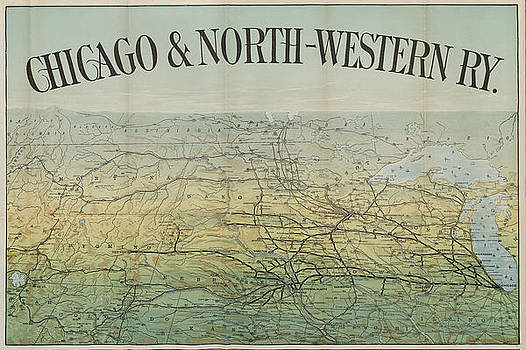 Chicago and North Western Historical Society - Late 1800s Train Route Map