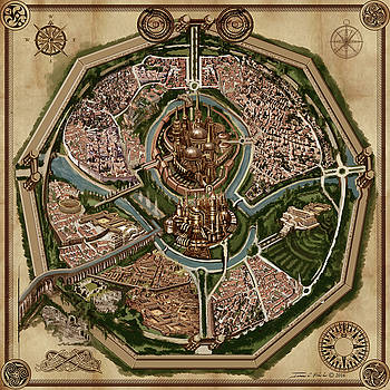 Map of ancient city of DRITH by James Christopher Hill