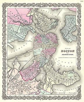 Joseph Hutchins Colton - Map of Boston