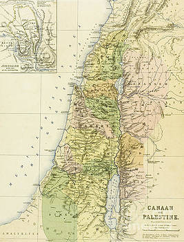 English School - Map of Canaan or Palestine