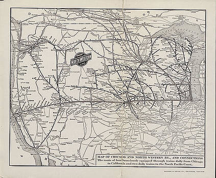 Chicago and North Western Historical Society - Map of Chicago and North Western Line From 1915 Travel Guide
