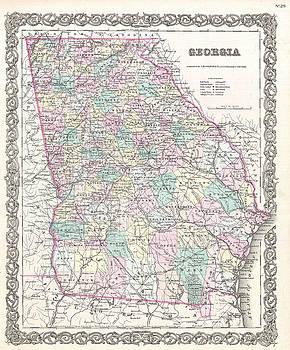 Joseph Hutchins Colton - Map of Georgia