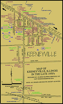 map of Keeneyville by Dean Glorso