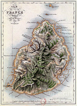 Dyonnet - Map of Mauritius