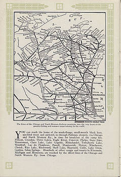 Chicago and North Western Historical Society - 1915 Map of North Western Line