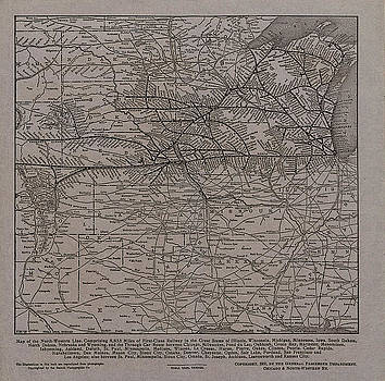 Chicago and North Western Historical Society - 1902 Map of North Western Line Service