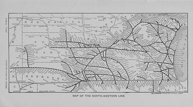 Chicago and North Western Historical Society - 1903 Map of North Western Line Routes