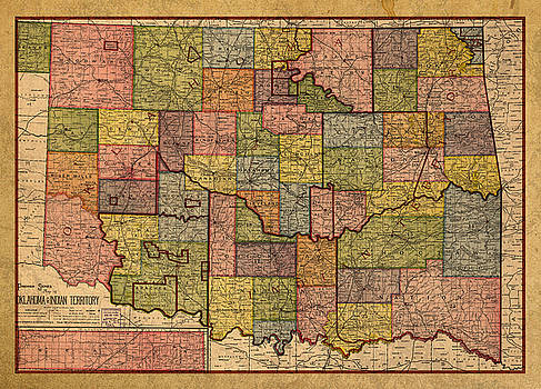 Design Turnpike Artwork Collection Vintage City and State Maps