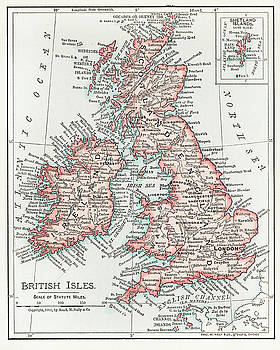 Map of the British Isles 1900 by Unknown