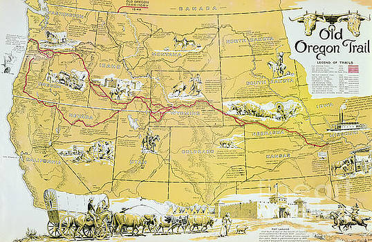 American School - Map of the Old Oregon Trail