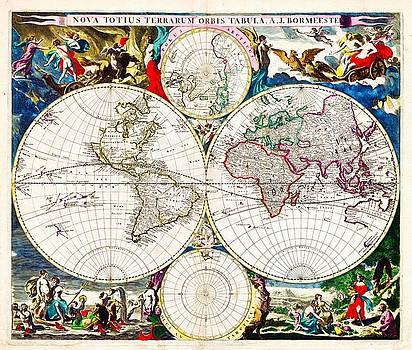 Larry Lamb - Map Of The World In 1685