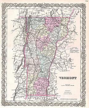 Joseph Hutchins Colton - Map of Vermont