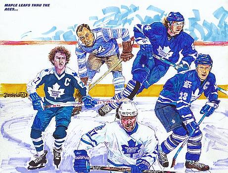 Maple Leafs Thru The Ages by Brian Child