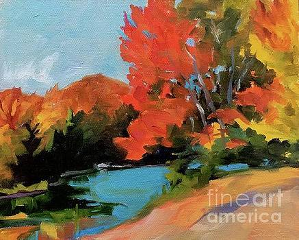 Maples at Colton Pond by Lynne Schulte