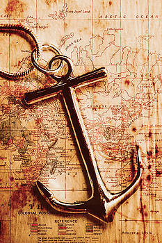 Maps and anchors fine art by Jorgo Photography - Wall Art Gallery