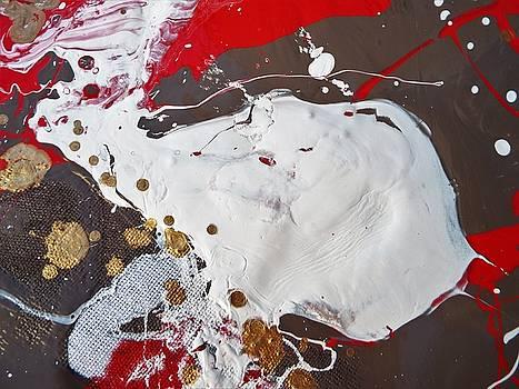 Marabu Is Decorating A Placard by Gyula Julian Lovas