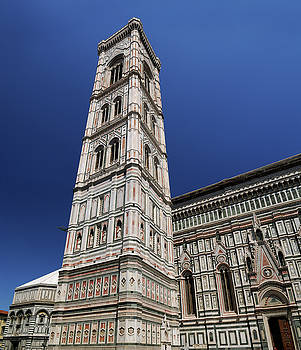 Reimar Gaertner - Marble Battistero Campanile and Duomo in Florence with blue sky