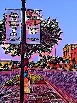 Marble Falls Downtown by Patricia Rex