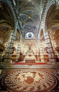Marble Floor Siena Italy Cathedral by Joan Carroll
