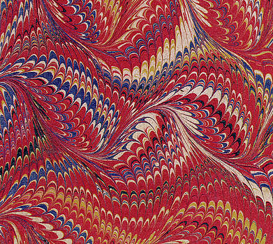 English School - Marbled endpaper