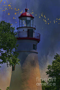 Marblehead in Starlight by Joan Bertucci