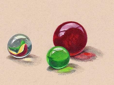 Joyce Geleynse - Marbles in Color Pencil