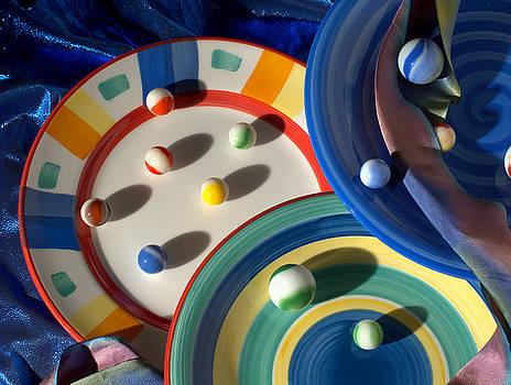 Marbles On Plates by Jan Stittleburg