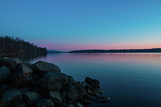 March Dawn Over the Hudson by Jeff Severson