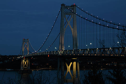 March Evening at the Mid-Hudson Bridge by Jeff Severson