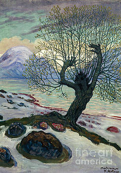 March morning, spring night and sallow man by Nikolai Astrup