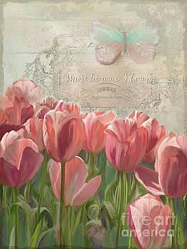 Marche aux Fleurs 3 - Butterfly n Tulips by Audrey Jeanne Roberts