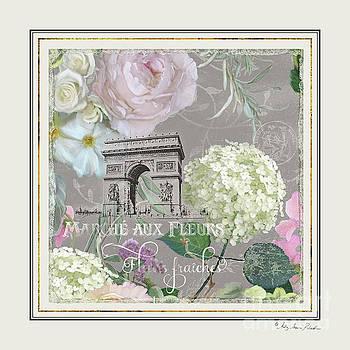 Marche aux Fleurs Vintage Paris Arc de Triomphe by Audrey Jeanne Roberts